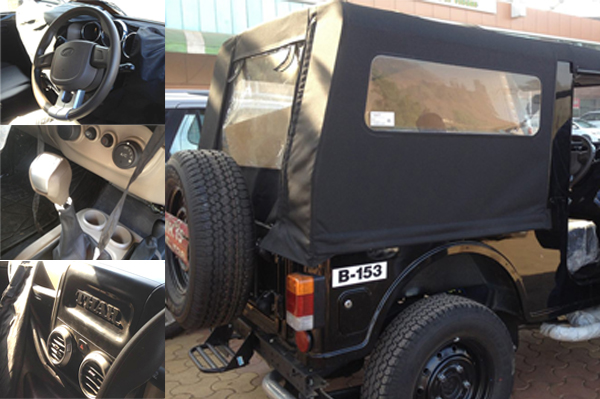 2015 Mahindra Thar Facelift Spied Inside Out Autocar India