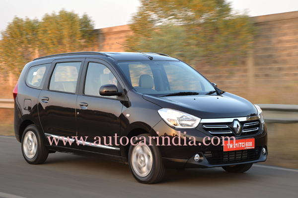 renault lodgy review test drive autocar india. Black Bedroom Furniture Sets. Home Design Ideas