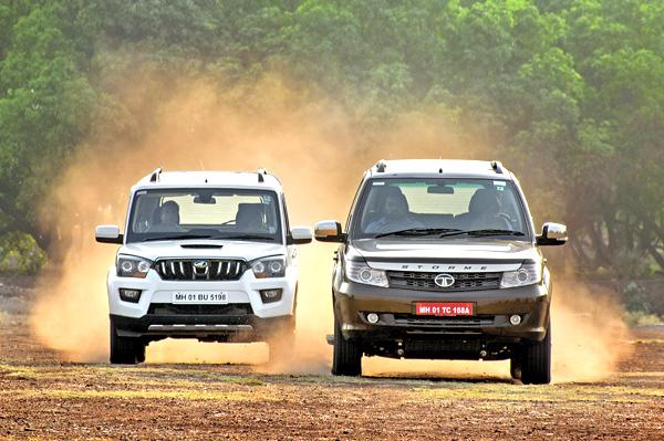 Dicor Platr 2017 : Tata safari storme facelift vs mahindra scorpio comparison
