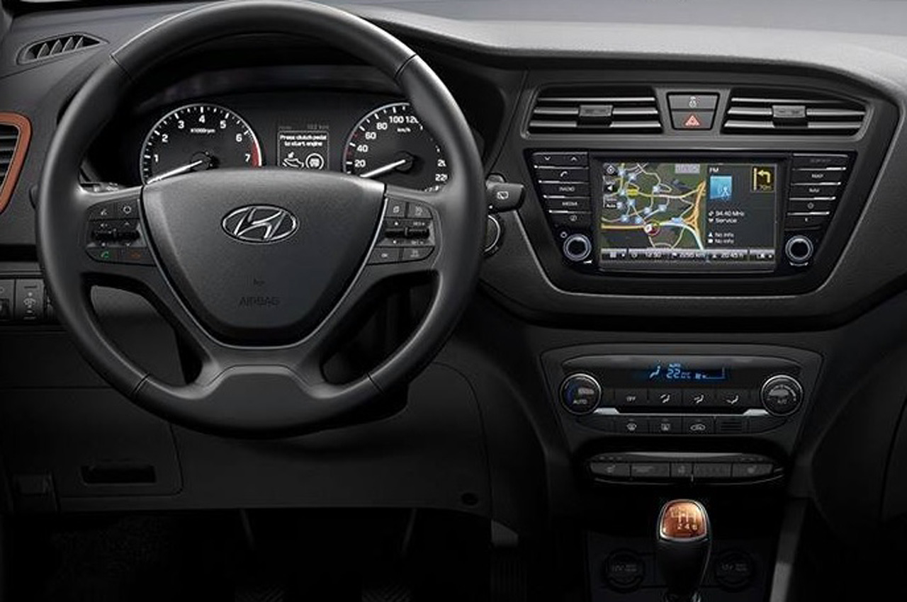 Hyundai i20 i20 active with touchscreen now on sale for Hyundai i20 2015 interior