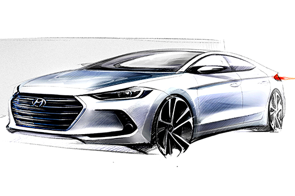 Coupe Vs Sedan >> Next-gen Hyundai Elantra teased via official sketches ...