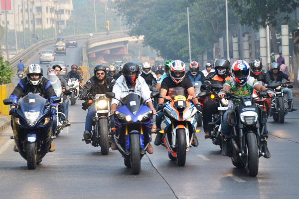 ignite  passion superbike rally held  mumbai autocar india