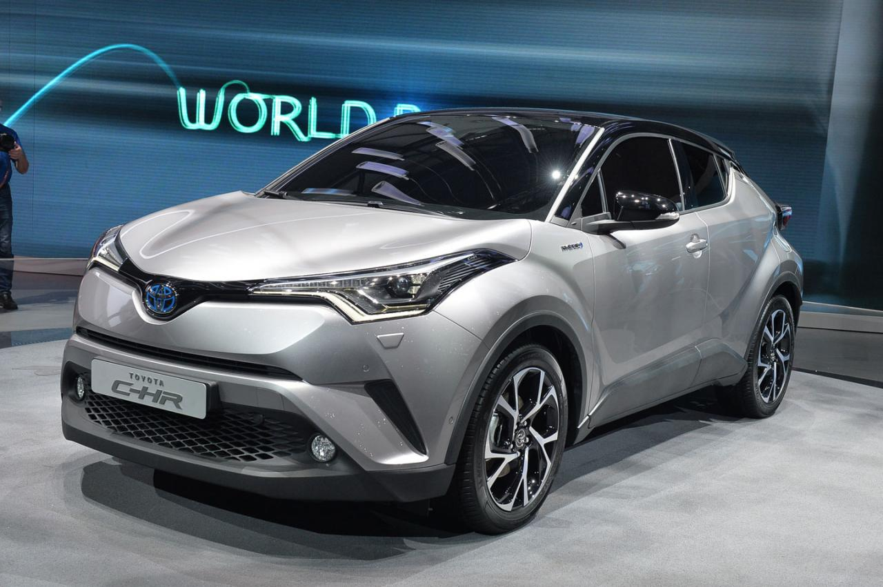 toyota c-hr production version unveiled - autocar india
