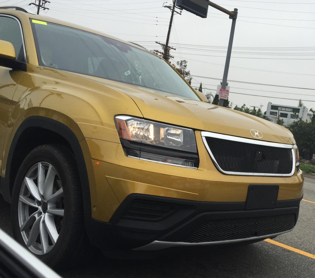 Suv Volkswagen: New Volkswagen Full-size SUV Begins Road Testing