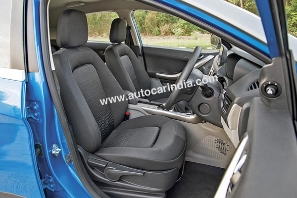 Front seats are well-padded and offer oodles of support from all sides.