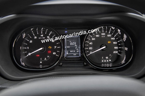 As with the rest of the dash, the instrument cluster is very functional.