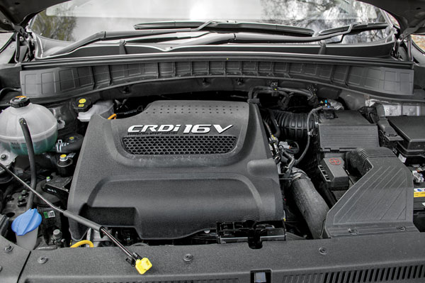 2.0 diesel builds power smoothly but lacks punch.