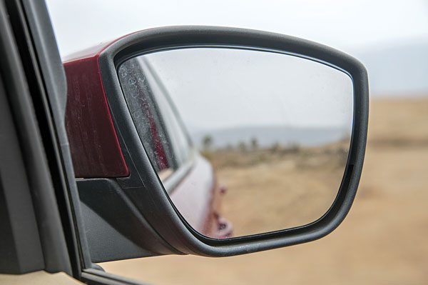 Ford's outside rear-view mirrors are really tiny.