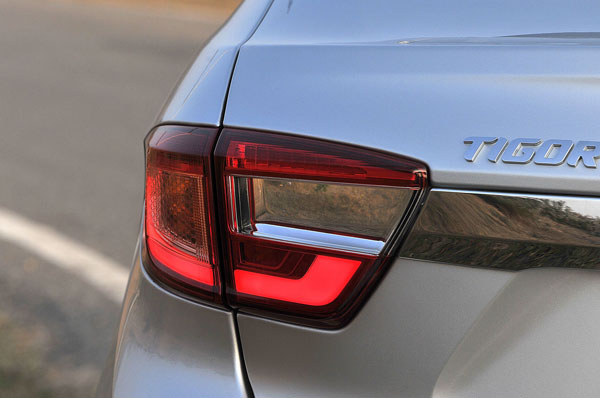 Split tail lamps are smartly styled.