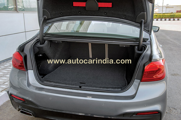 Boot looks a bit shallow because below the carpet is a much needed made-for-India enclosure for a space-saver tyre.