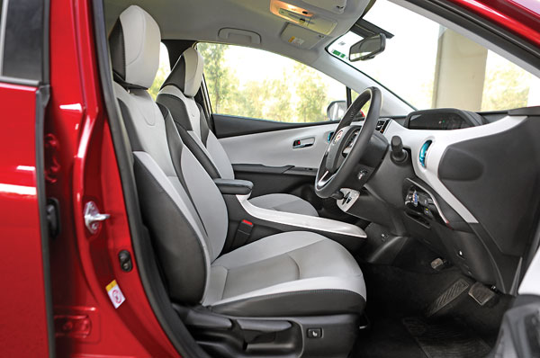 Sculpted front seats are supportive. Get heating too.