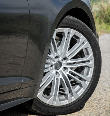 Smart 18-inch alloys on S-line.