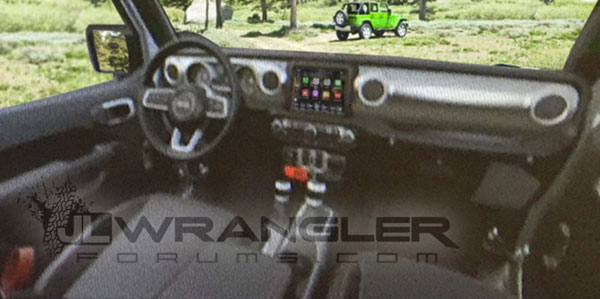 2018 Jeep Wrangler Interior Leaked Equipment Autocar India
