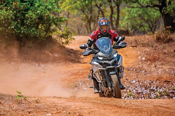 The amount of feedback and control you get while off-road is commendable for such a large, heavy motorcycle.