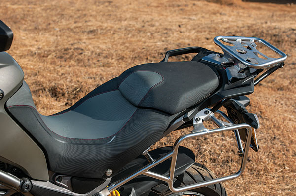 Seating position is one of the most comfortable we've experienced on a bike.