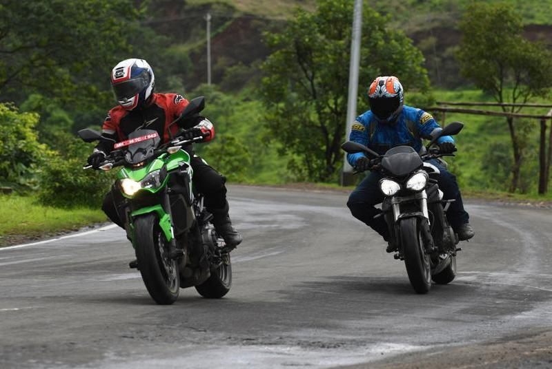 Review: Triumph Street Triple S vs Kawasaki Z900 comparison