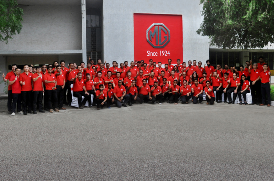 mg motor inaugurates first plant in india autocar india