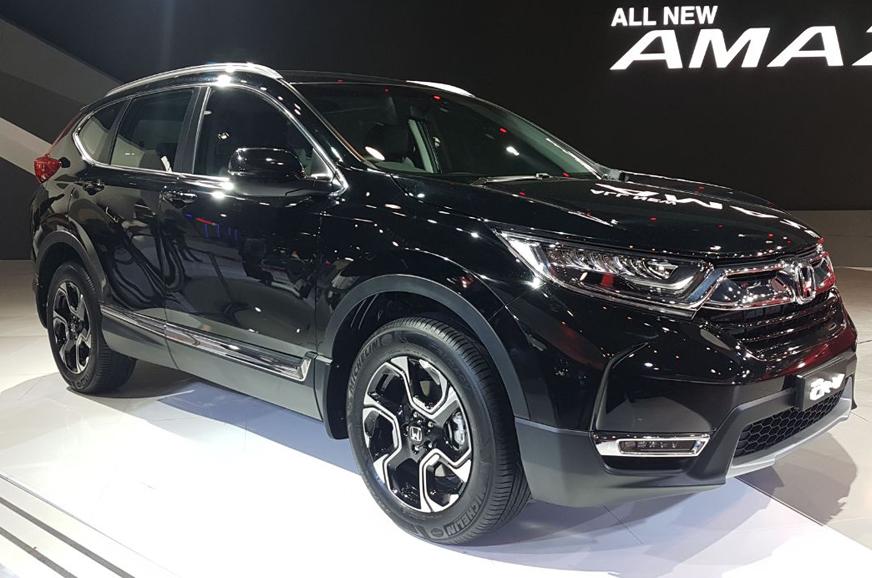 Auto expo 2018 new honda cr v diesel unveiled in india for Honda crv india