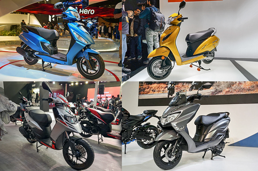 auto expo 2018 best scooters on display new launches and. Black Bedroom Furniture Sets. Home Design Ideas