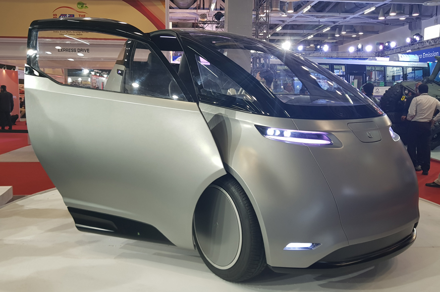 Auto Expo 2018 Uniti One Ev Hatchback From Swedish