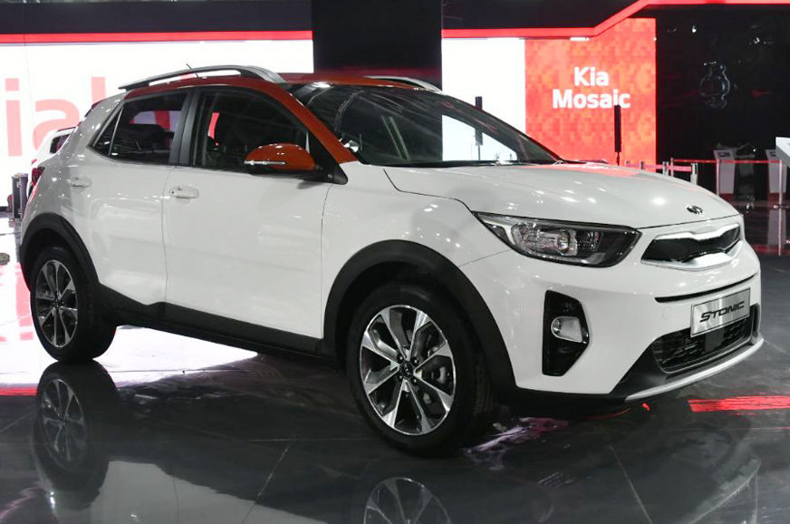 auto expo 2018 kia stonic crossover suv makes its india debut at the 2018 auto expo autocar india. Black Bedroom Furniture Sets. Home Design Ideas