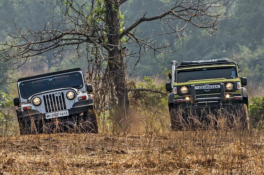 Mahindra Thar Vs Force Gurkha Vs Comparison Lifestyle Off Road Suvs Go Head To Head Autocar