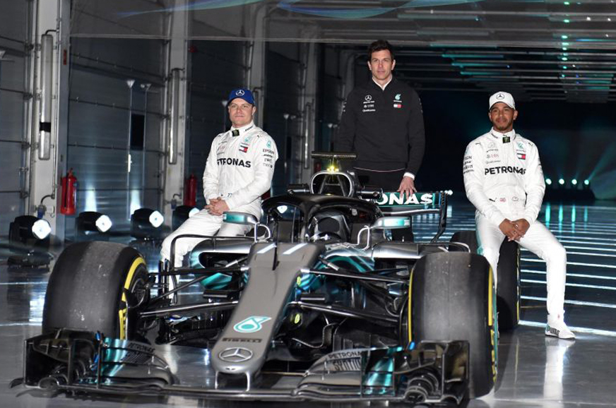 Mercedes W09 race car revealed ahead of 2018 F1 season ...