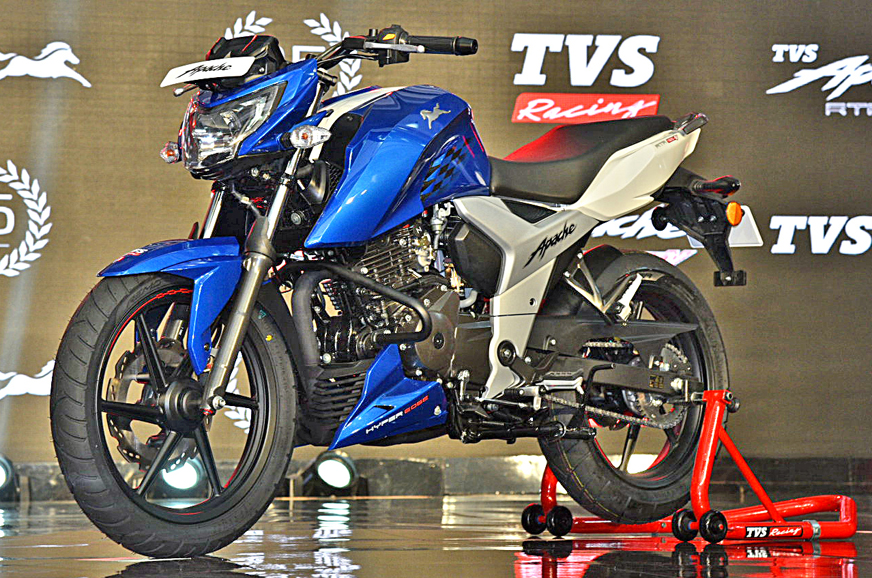 2018 tvs apache rtr 160 4v launched in india at rs 81490