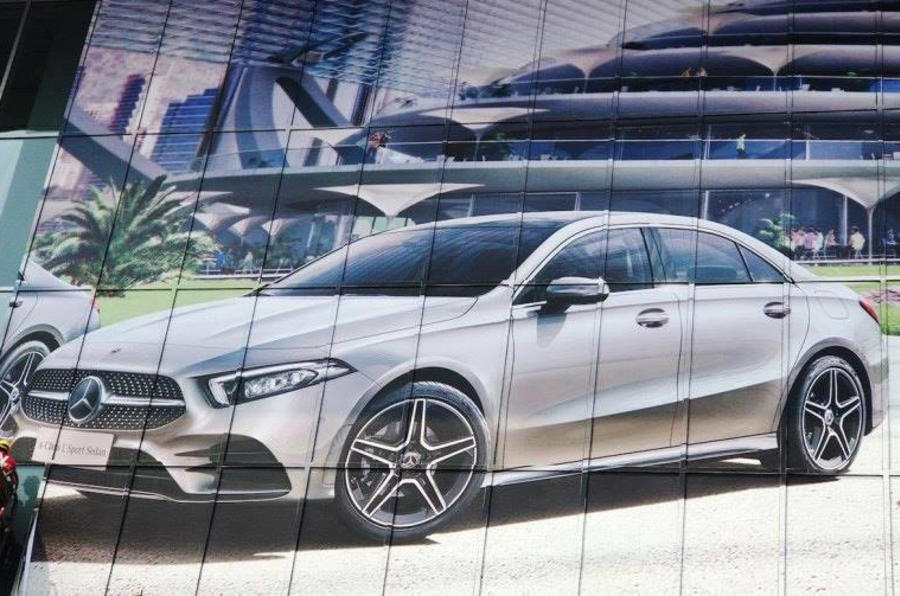 New Mercedes A-class sedan leaked
