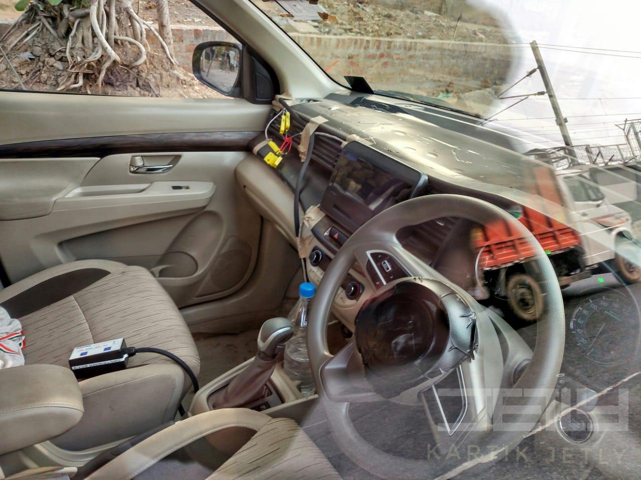 New Maruti Ertiga Automatic Spied Autocar India