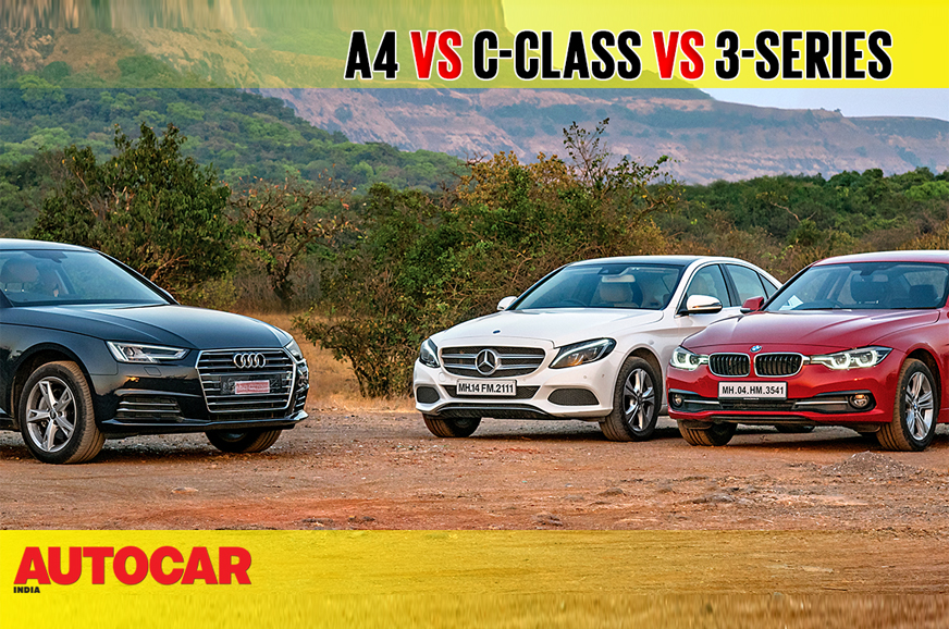 Audi A Vs MercedesBenz Cclass Vs BMW Series Comparison Video - Bmw vs audi