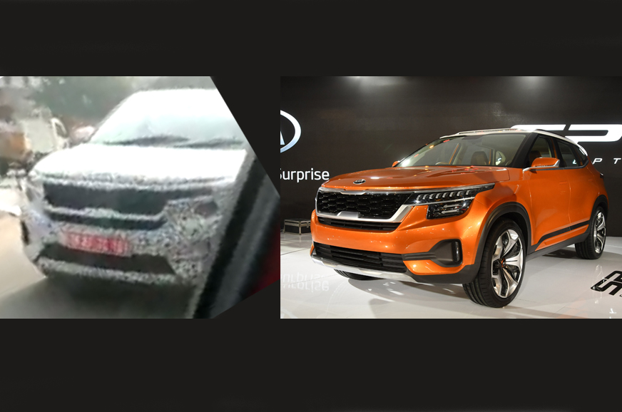 kia sp concept based suv spied for the first time autocar india
