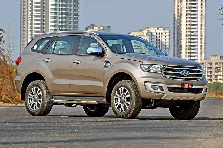 ford endeavour facelift suv launched  india prices start  rs  lakh autocar india