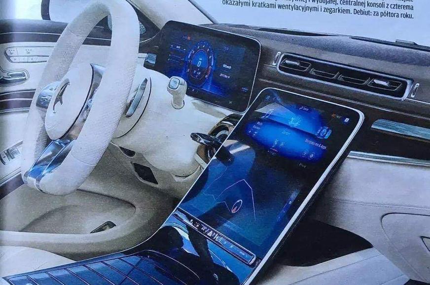 Next-gen Mercedes-Benz S-class interior leaked