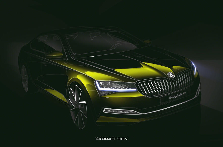 Skoda Superb facelift teased