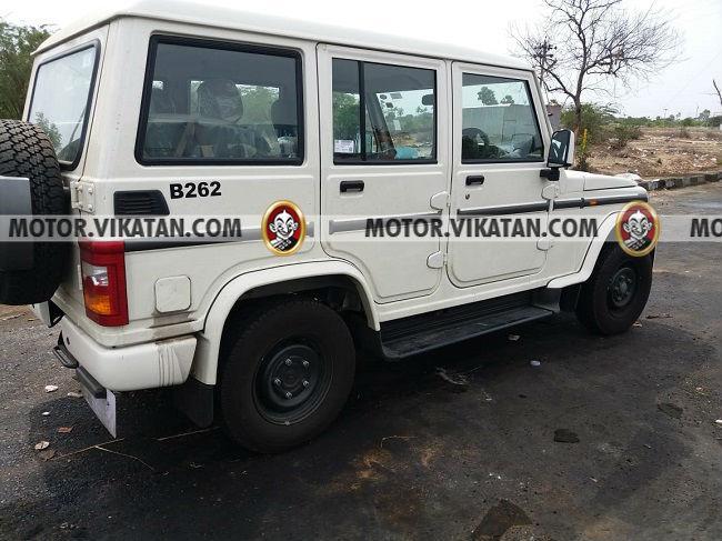 Mahindra Bolero with airbag, parking sensors spied