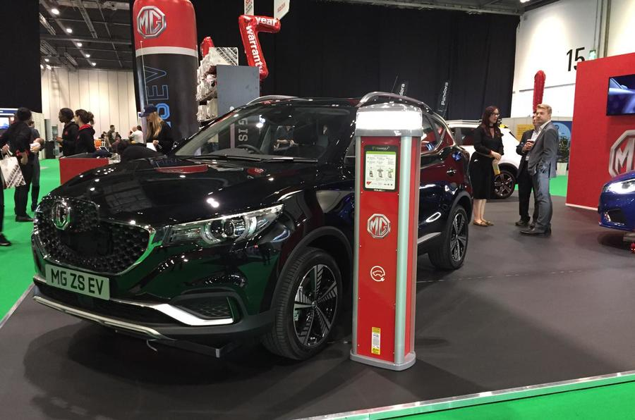 MG eZS SUV showcased at the 2019 London motor show