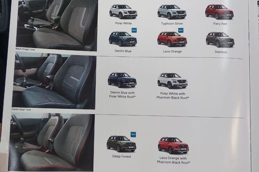 hyundai venue interior  exterior colour details leaked  autocar india