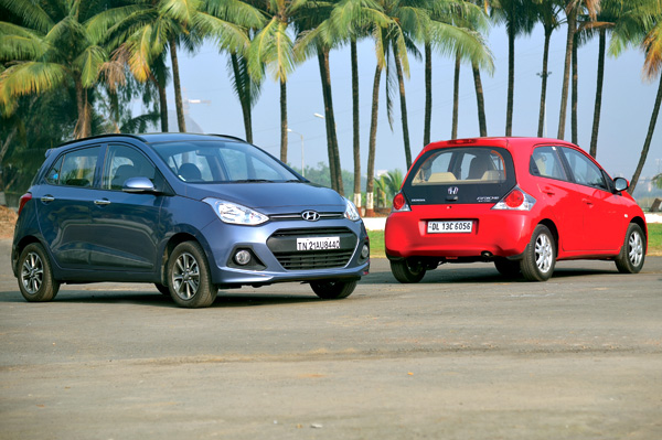 New Hyundai Grand I10 Vs Honda Brio Feature Autocar India