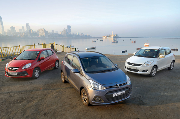 Hyundai Grand i10 vs Maruti Swift vs Honda Brio comparison
