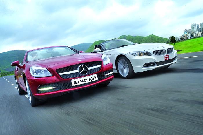 Mercedes Slk Vs Bmw Z4 Feature Autocar India
