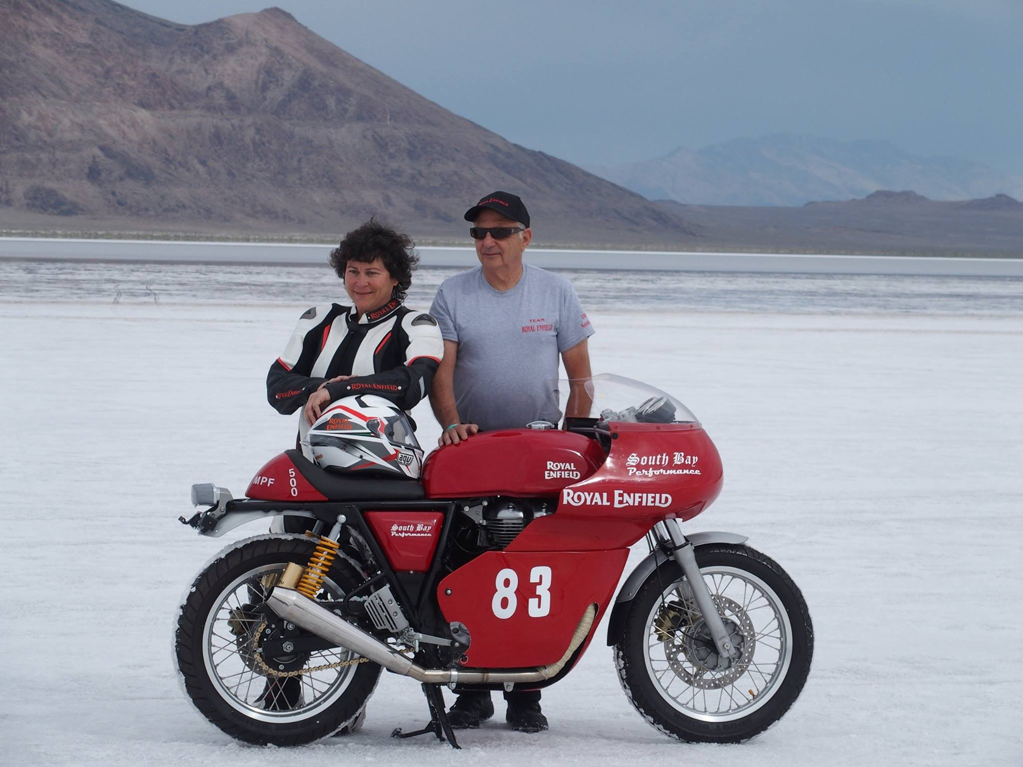 Royal Enfield Continental Gt On Bonneville Salt Flats