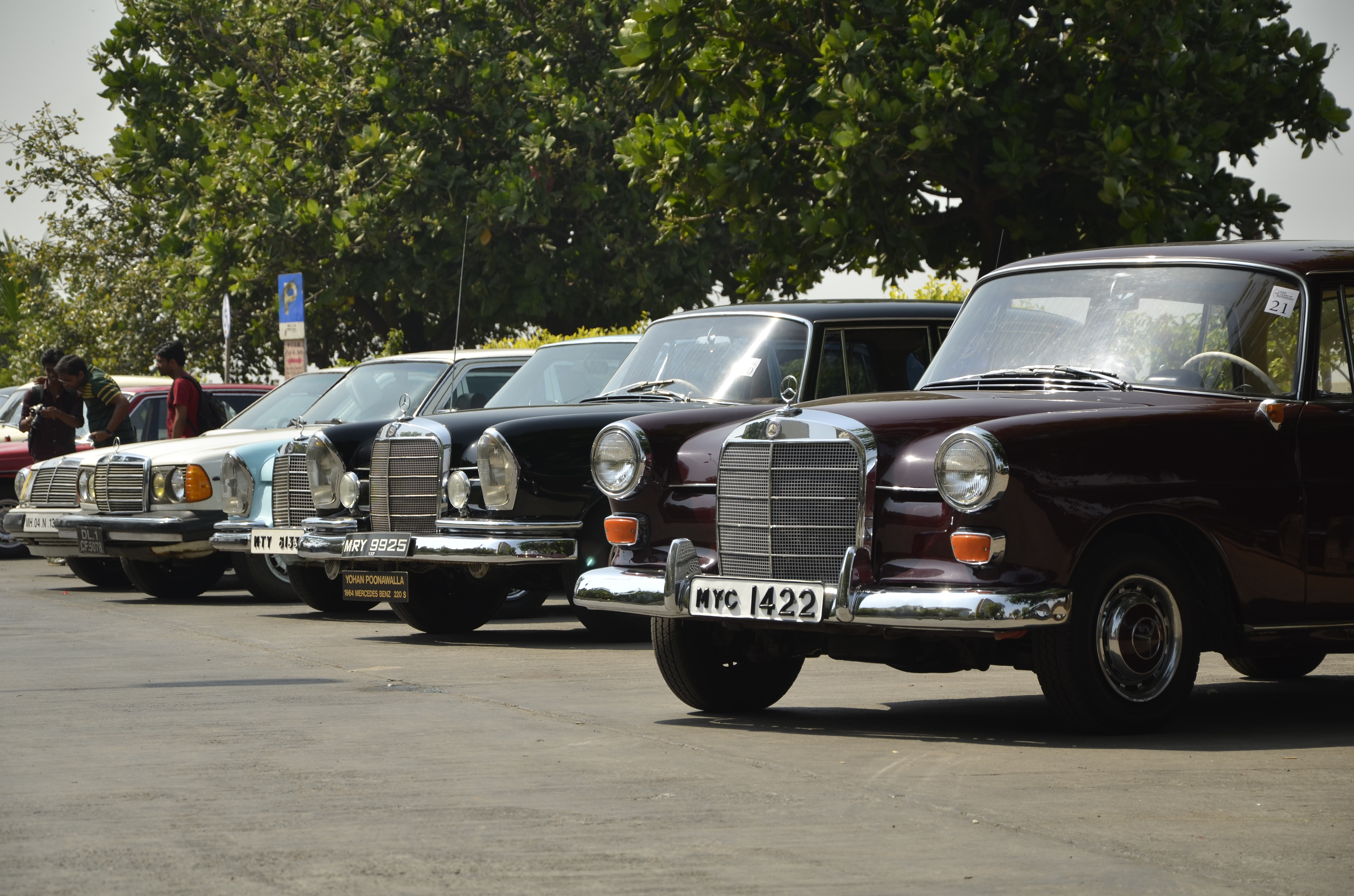 2014 mercedes classic car rally photo gallery autocar india for Rally mercedes benz