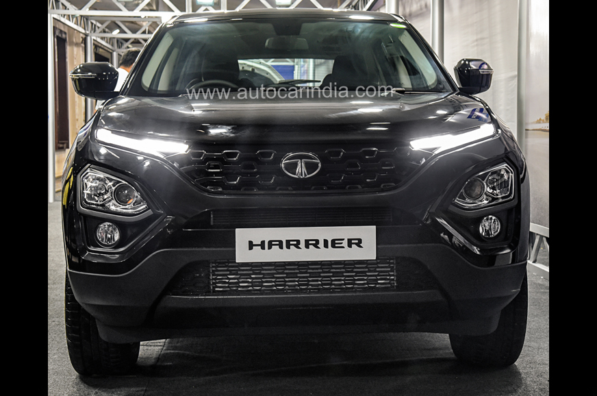 First Team Nissan >> All-black Tata Harrier image gallery - Autocar India