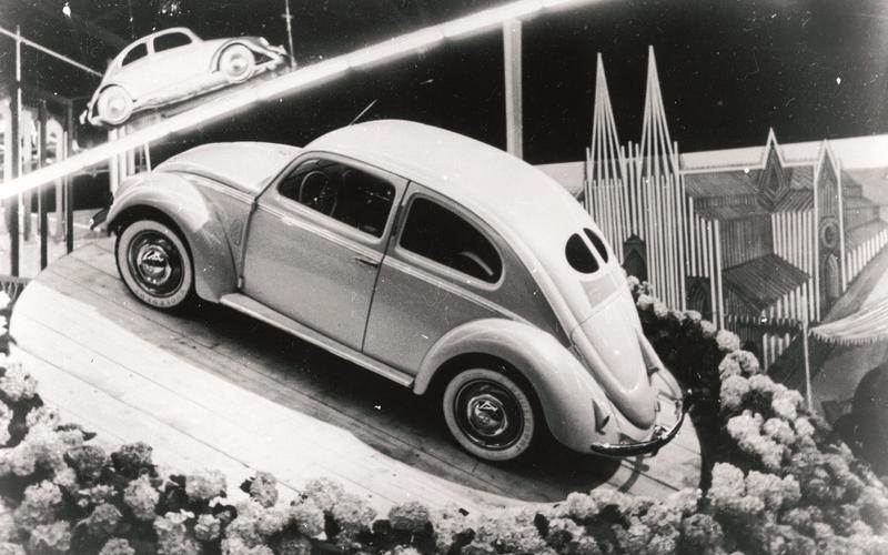 in 1949, the beetle came with a 1 1-litre air-cooled flat-four engine rated  at 30hp  it cost $1,280 – a figure which converts to approximately $13,000