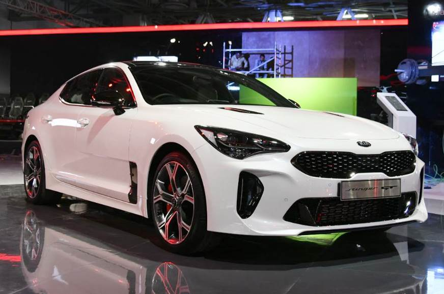 Kia Has Its Entire International Line Up On Show At Auto Expo 2018 But Of All The Models Stinger Gt Is One That Will Get Your Pulse Racing