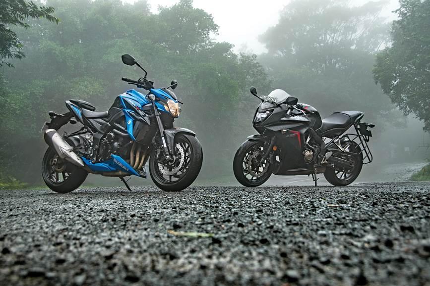 2018 Suzuki GSX-S750 vs Honda CBR650F comparison - Autocar India