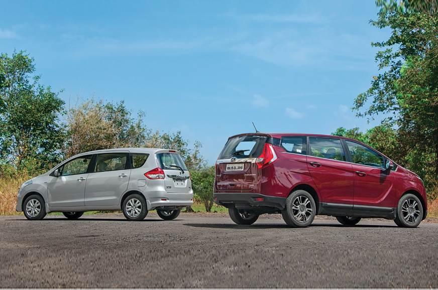2018 Mahindra Marazzo Vs Maruti Suzuki Ertiga Comparison Autocar India