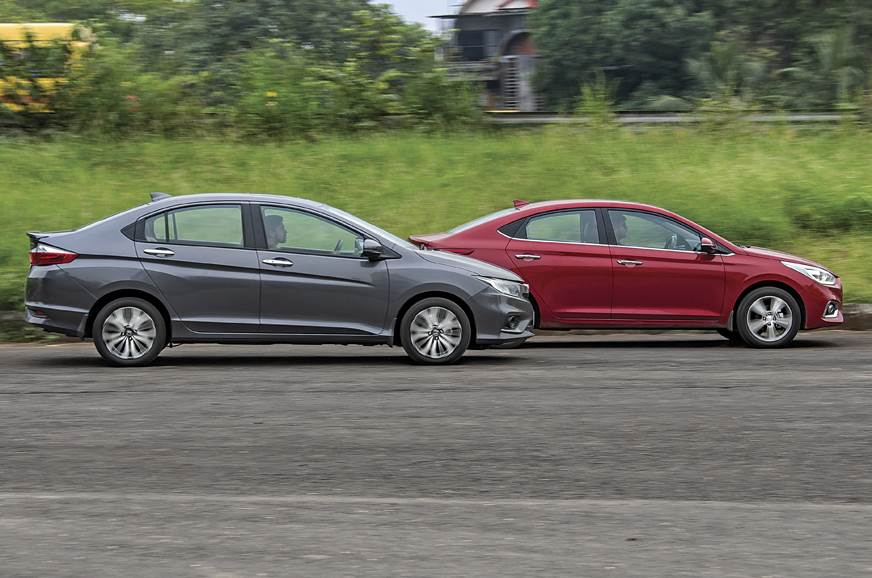 2017 Hyundai Verna Vs Honda City Petrol Automatic Comparison