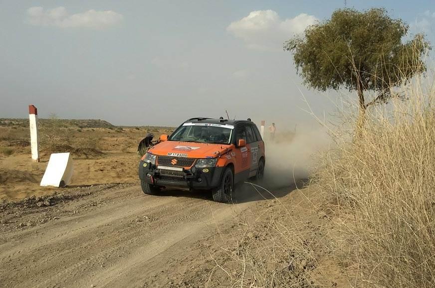 Team Army's Maruti Suzuki Grand Vitara